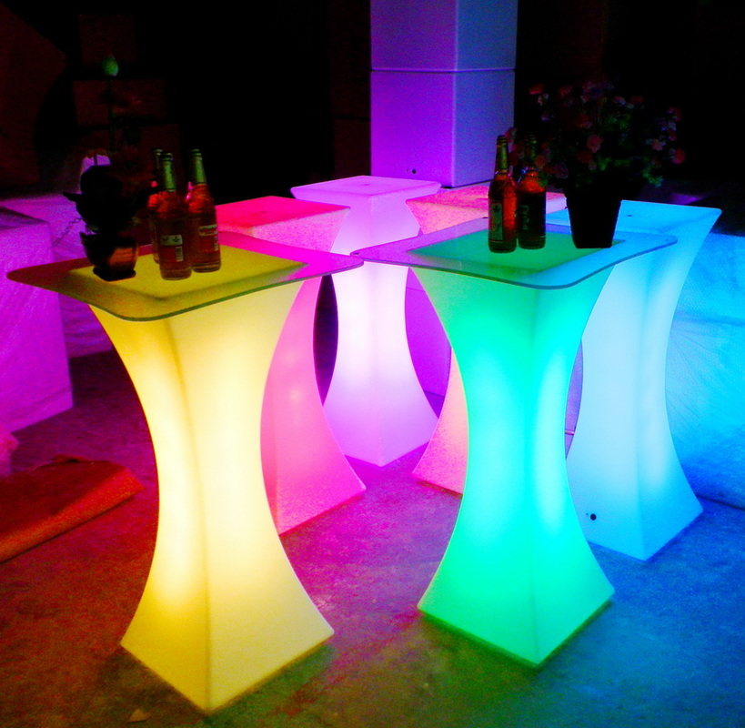 Retro led lights for night club tables