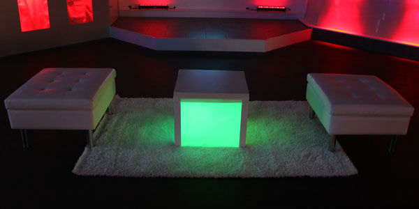 LED furniture available from Eco Industrial Supplies
