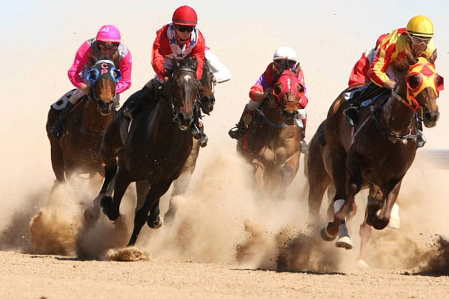 the horse races at Birdsville