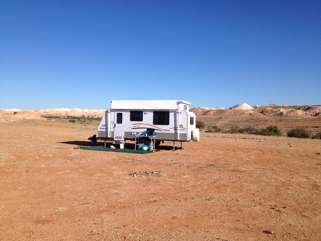 Camping at Andamooka South Australia