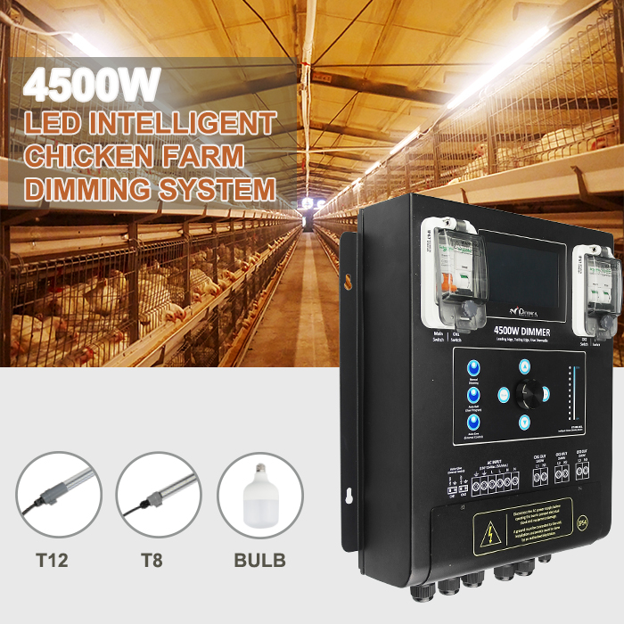4L 4500 Watt poultry lighting controller and programable dimmer system available from Eco Industrial Supplies