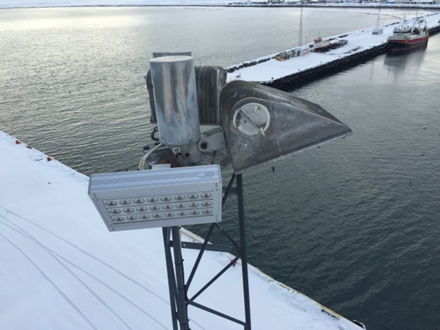 FLN series marine grade floodlight LED available from eco industrial supplies