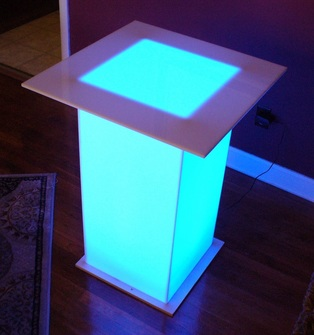 LED Designed furniture availabe from Eco Industrial Supplies