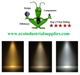 Flood Light T-Rex Industrial available in different colour temperatures.