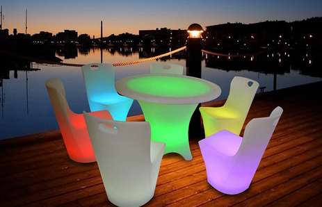 Furniture LED tables and chairs