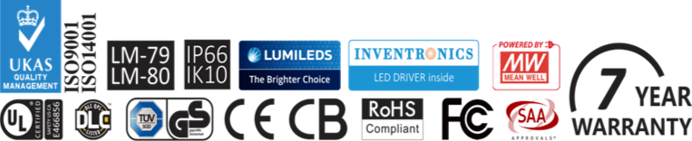 Quality controlled LED street lights available from Eco Industrial Supplies